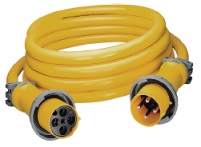 Hubbell CS754 100AMP 3 Wire 75' 125 250V Shore Cord