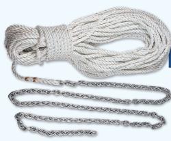 """Lewmar 5' 1 4"""" G4 Chain W 100' 1 2"""" Rope"""