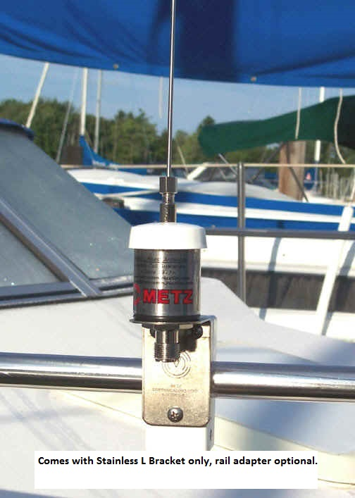 Metz MANTA-6 40 Stainless Steel VHF Antenna