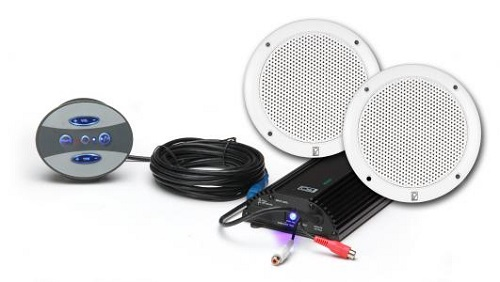 Polyplanar BT-KIT-4W Amplifier With Speakers