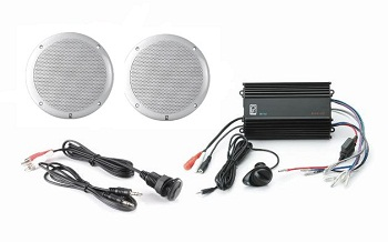 Polyplanar MP3-KIT-4 White Amp And MA4055 Speakers
