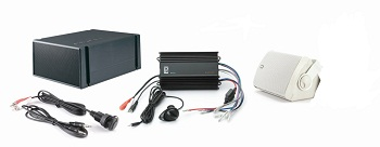 Polyplanar MP3-KIT-7 White Amp And Speaker Kit