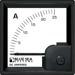 Blue Sea Systems DIN Ammeter DC 0-25A w  Internal Shunt
