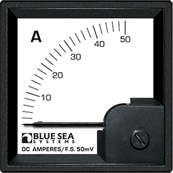 Blue Sea Systems DIN Ammeter DC 0-50A w  External Shunt