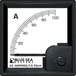 Blue Sea Systems DIN Ammeter DC 0-100A w  External Shunt