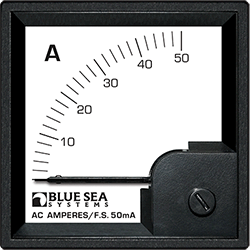 Blue Sea Systems DIN Ammeter AC 0-50A w  Pick-Up Coil