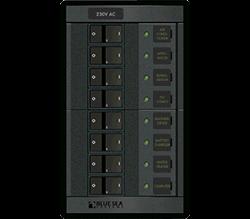 Blue Sea Systems 360 AC Distr, Rckr Sw Brkrs, 8-8A, 230V