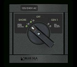 Blue Sea Systems 360 AC Src Sel, 65A 2x120v-Sh   240V-Gen