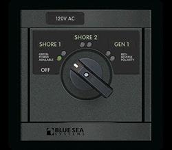 Blue Sea Systems 360 AC Src Sel, 30A P+S 120V-Sh 120V-Gen