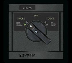 Blue Sea Systems 360 AC Src Sel, 65A 230V-Sh   230V-Gen