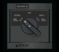 Blue Sea Systems 360 AC Src Sel, 65A 240V-Sh   240V-Gen