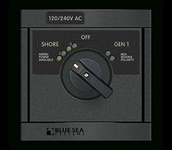Blue Sea Systems 360 AC Src Sel, 30A 2x120V-Sh   240V-Gen