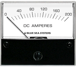 Blue Sea Systems Analog Ammeter DC Std 0-200A w  Shunt