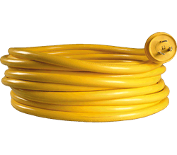 Charles 50' Shore Pwr Cable, 50A, 125 250v, Yel
