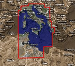 Furuno MM3 Chart, Mediterranean Sea Central