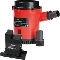 Johnson Pump HD Bilge Pump 2200 GPH, w EM Switch, 24V