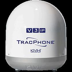 KVH TracPhone V3-IP, White Base