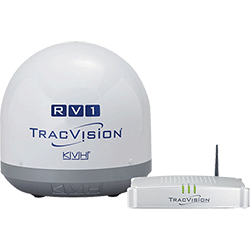 KVH TracVision RV1 w IP-TV Hub, Mexico Euro