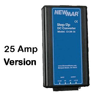 Newmar Converter, 10-15VDC to 27.2VDC 25 Amp