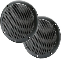 Poly-Planar 6 2-Way Coaxial Black 40 Watt