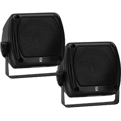 Poly-Planar 4x4 Compact Box Speaker Black 40 Watt