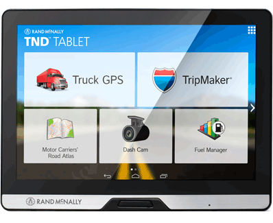 Rand-McNally TND Tablet, Trucker's GPS/Android Tablet
