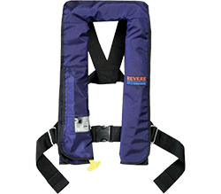 Revere Lifevest, Type V,  Auto, Navy w/ Harness