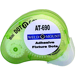Weld Mount Adhesive Fixture Dot Cartridge, 1 pc